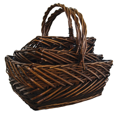 BASKET, DECO WILLOW RECT LG